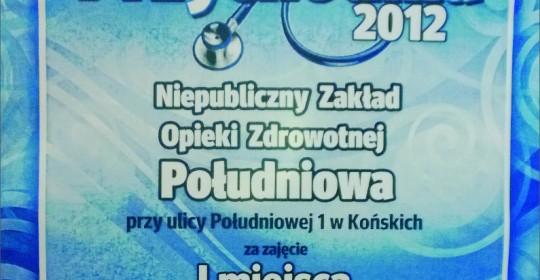 Najlepsza przychodnia 2012 roku w powiecie koneckim w plebiscycie Echa Dnia