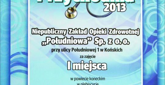 Najlepsza przychodnia 2013 roku w powiecie koneckim w plebiscycie Echa Dnia