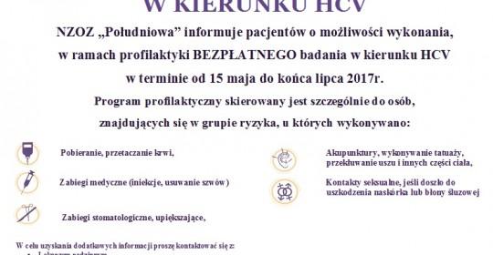 BEZPŁATNE BADANIA W KIERUNKU HCV
